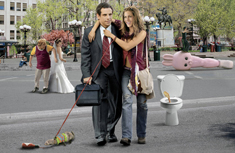 "Ben Stiller and Jennifer Anniston in ""Along Came Polly"""