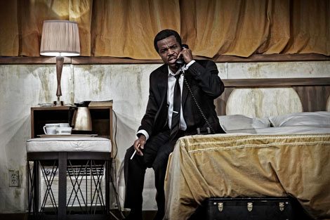 Kevin-Hanchard as Martin Luther King, Jr. in The Mountaintop.