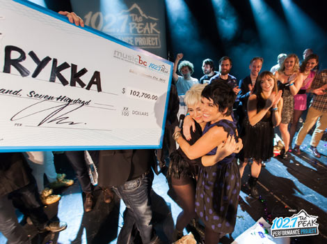 Electro-rocker Rykka was the 2013 winner of the Peak Performance Project, which has now come to Alberta for its inaugural year.