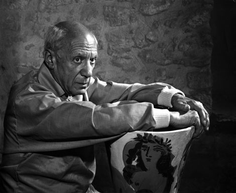 Yousuf Karsh, Pablo Picasso, 1954, silver gelatin on paper, collection of the Government of Alberta